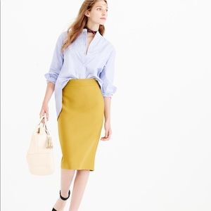 J. Crew No. 2 Double Surge Wool Pencil Skirt